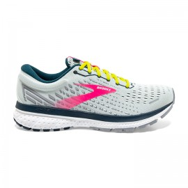 Brooks Scarpe Running Ghost 13 Grigio Rosa Lime Donna