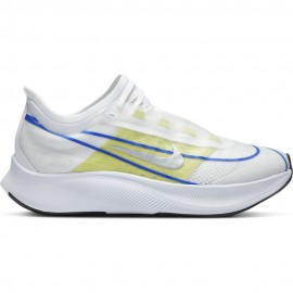 Nike Scarpe Running Zoom Fly 3 Bianco Blu Lime Argento Donna