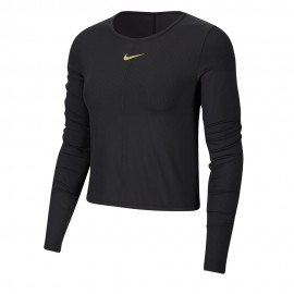 Nike Maglia Running Icon Clash Top Ls Nero Metallico Donna