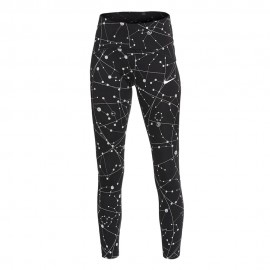 Nike Leggings Running 7/8 Speed Flsh Tght Nero Argento Donna