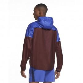 Nike Giacca Running Shieldrunnery Blu Bordeaux Uomo