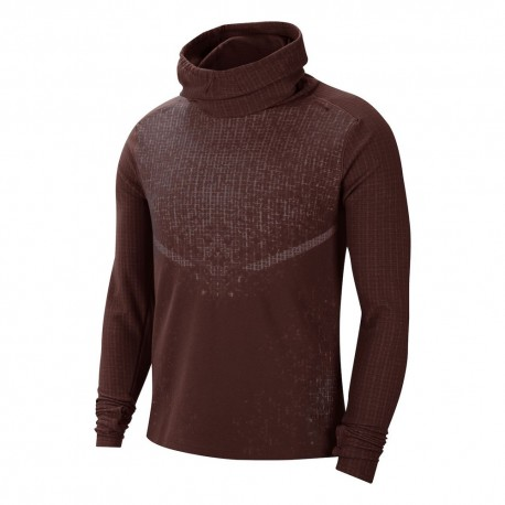 Nike Maglia Running Wooldorado Bordeaux Uomo