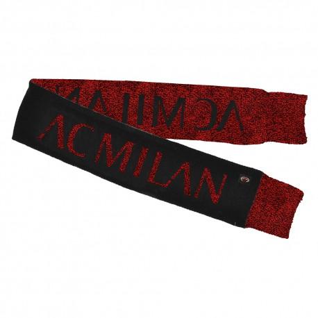Imma Sciarpa Calcio Milan Jacquard Nero Rosso Uomo