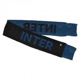 Imma Sciarpa Calcio Inter Jacquard Nero Azzurro Uomo