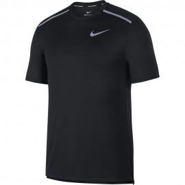 Nike Maglia Running Miler Nero Grigio Uomo