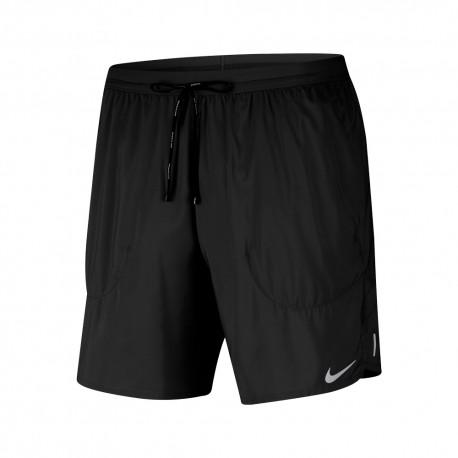 Nike Short Running 7in Flex Stride Nero Grigio Uomo