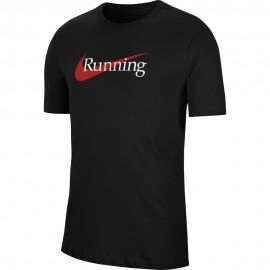 Nike Maglia Running Dri-Fit Nero Uomo