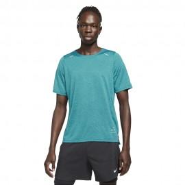 Nike Maglia Running Rise 365 Rn Dvn Verde Nero Uomo