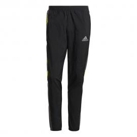 ADIDAS leggings running track nero grigio giallo uomo