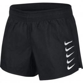 Nike Pantaloncini Running Swoosh Nero Bianco Donna