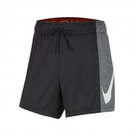 Nike Pantaloncino Palestra Bicolor Shoosh Nero Donna