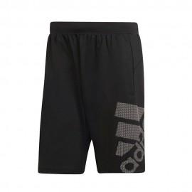 ADIDAS pantaloncino palestra logo nero uomo