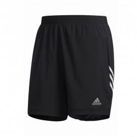 ADIDAS pantaloncini running it 3 stripe nero bianco uomo