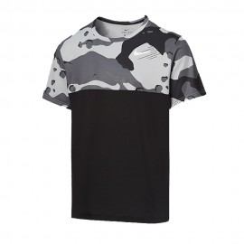 Nike Maglietta Palestra Camouflage Nero Uomo