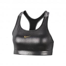 Nike Reggiseno Sportivo Swoosh Nero Metallico Donna
