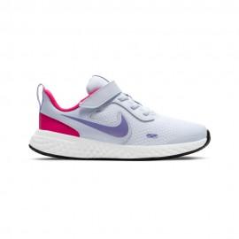 Nike Sneakers Revolution 5 Psv Grigio Argento Bambino