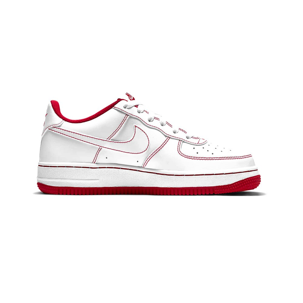 Nike Sneakers Air Force 1 Gs Bianco Rosso Bambino - Acquista ...