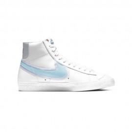 Nike Sneakers Blazer Mid 77 Bianco Glacier Blu Donna