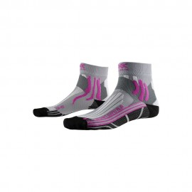 X-Socks Calze Speed Two 4.0 Grigio Rosa Donna