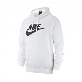 Nike Felpa Con Cappuccio Logo Bianco Uomo