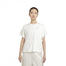 Nike T-Shirt Crop Earth Day Avorio Donna