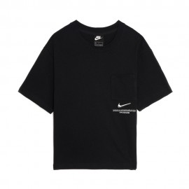 Nike T-Shirt Crop Swoosh Nero Donna