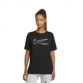Nike T-Shirt Swoosh Nero Donna