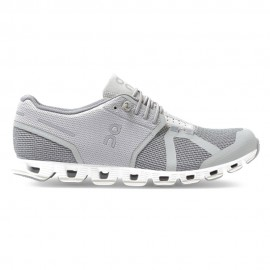 On Sneakers Cloud Argento Bianco Donna