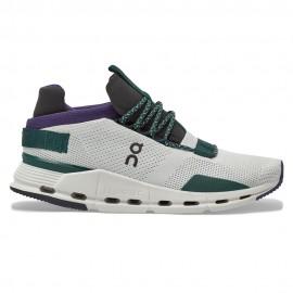 On Sneakers Cloudnova Bianco Viola Donna