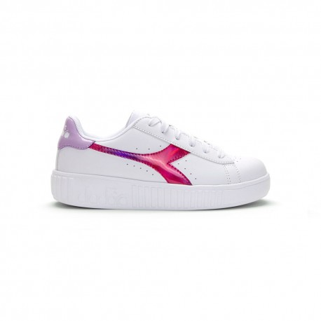 Diadora Sneakers Game Step Rainbow Gs Bianco Fucsia Bambino