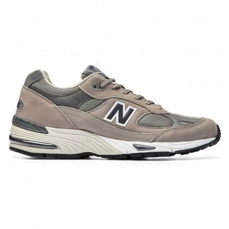 New Balance Sneakers 991 Nabuk Mesh Tortora Nero Uomo