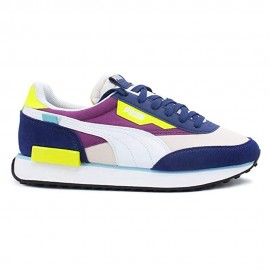 Puma Sneakers Future Rider Play On Blu Viola Bianco Donna