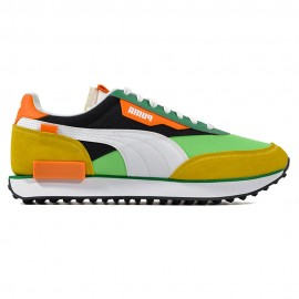 Puma Sneakers Future Rider Play On Verde Bianco Giallo Uomo