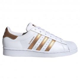 ADIDAS originals sneakers superstar bianco bronzo donna