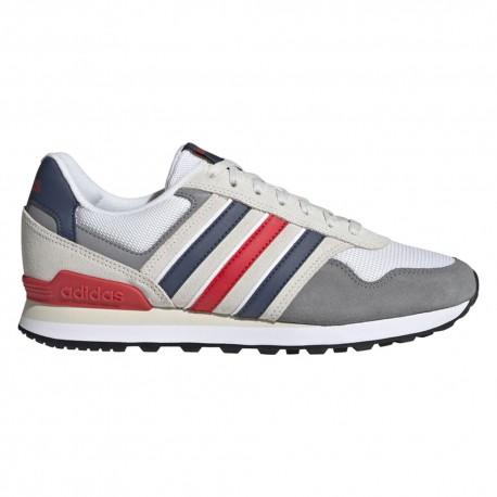 ADIDAS sneakers 10k bianco blu rosso uomo