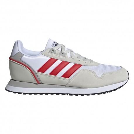ADIDAS sneakers 8k 2020 bianco rosso uomo