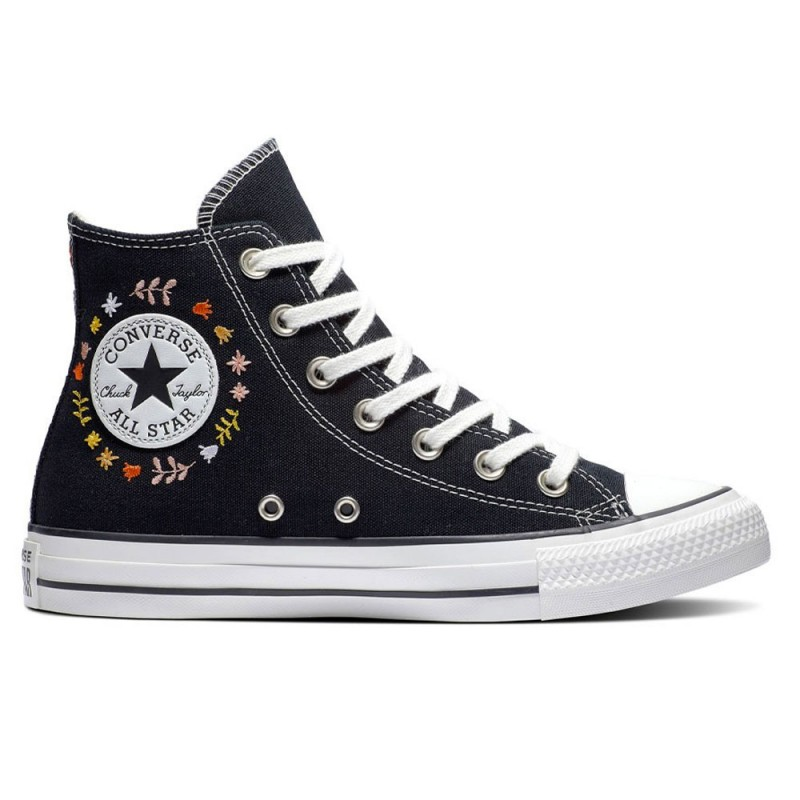 Converse Sneakers All Star Hi Wander Nero Ricamo Donna