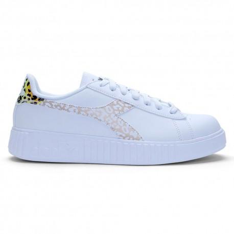 Diadora Sneakers Game P Step Animalier Bianco Donna