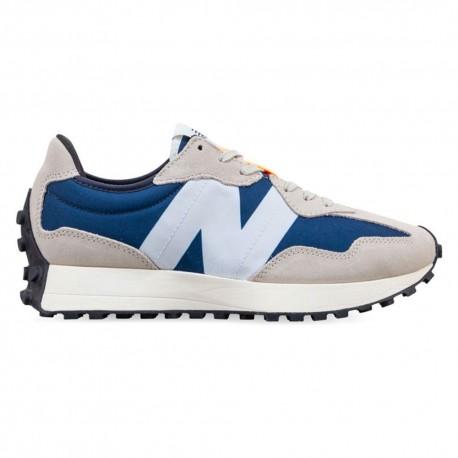 New Balance Sneakers 327 Suede Mesh Blu Grigio Uomo