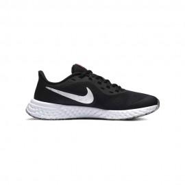 Nike Sneakers Revolution 5 Gs Nero Bianco Bambino
