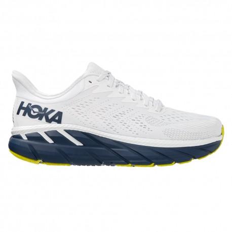 Hoka Scarpe Running Clifton 7 Bianco Blu Donna