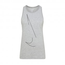 Nike Canotta Palestra Yoga Grigio Donna