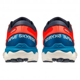 Mizuno Scarpe Running Wave Skyrise 2 Rosso Blu Uomo