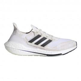 ADIDAS scarpe running ultraboost 21 bianco beige nero donna