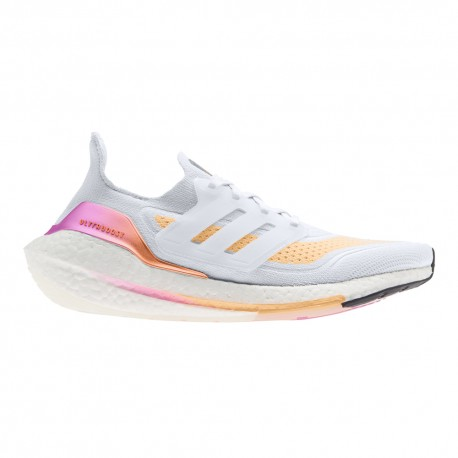 ADIDAS scarpe running ultraboost 21 bianco multicolore donna