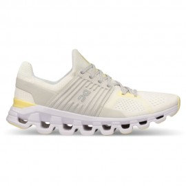 On Scarpe Running Cloudswift Bianco Limelight Donna
