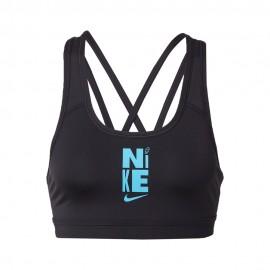 Nike Reggiseno Sportivo Poly Icon Clash Nero Donna