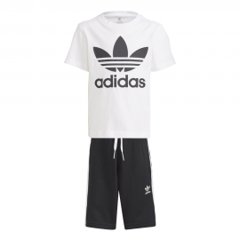 ADIDAS originals maglietta e pantaloncini nero bambino