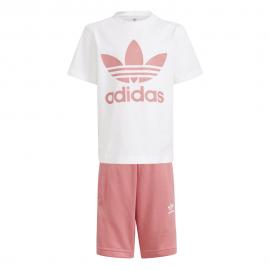ADIDAS originals maglietta e pantaloncini rosa bambina