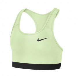 Nike Reggiseno Sportivo Swoosh No Pad Giallo Donna